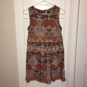Topshop floral sleeveless dress Size 2